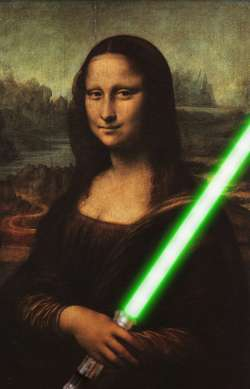Mona Lisa with Lightsaber
