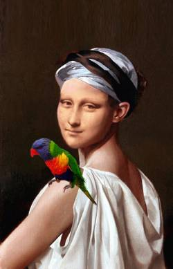 Mona Lisa with Parrot