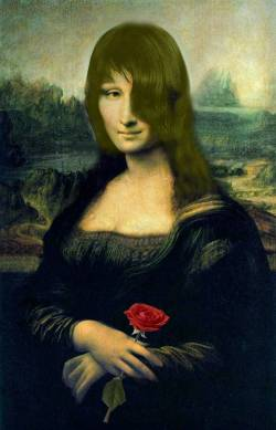 Mona Lisa with Rose
