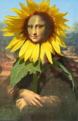 Mona Lisa with sunflower2