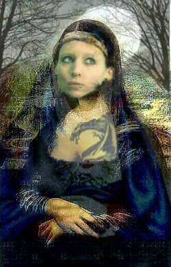 Mona Lisa with The Dragon Tattoo
