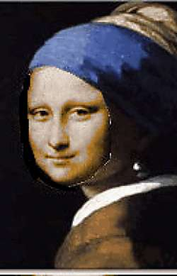 Mona Lisa with the pearl earring
