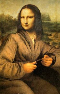 mona lisa work-woman