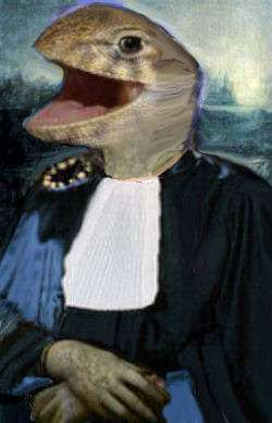 Mona lizard at the ECHR