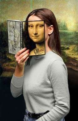 Mona Optical Illusion