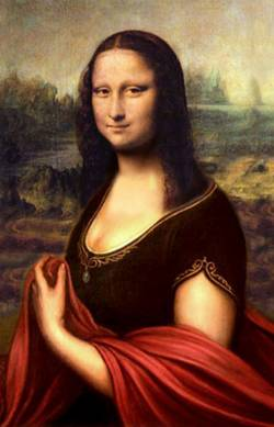 Mona With Red Cloak
