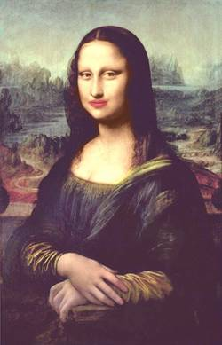 Mona with Red Lips