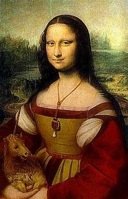 Mona with unicorn