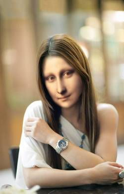 Mona with Wristwatch
