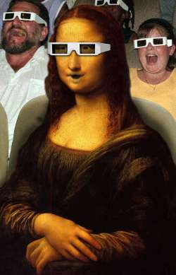 Monalisa in 3D cinema