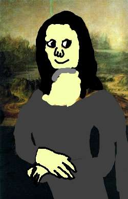 My painting of Mona Lisa