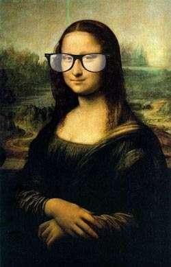 Nerdy Monda Lisa