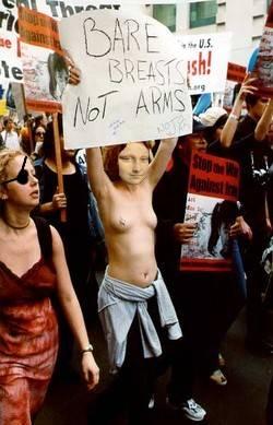 Protesting Mona