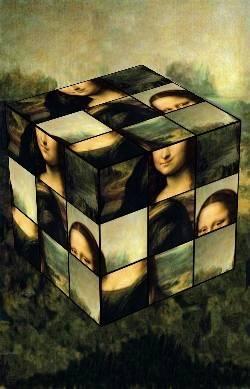 Rubik's cube Mona