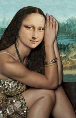 Sitting Mona Lisa