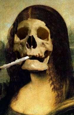 Skull Mona Lisa