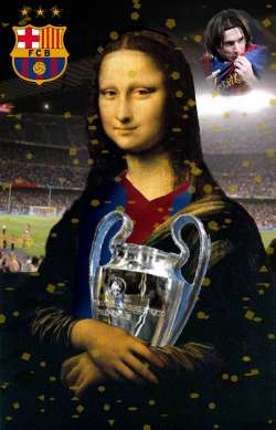 SMILY MONA, BARCELONA WINS THE CHAMPIONS LEAGUE