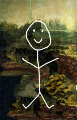Stick Figure Mona
