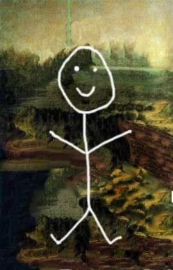 Stick Figure Mona