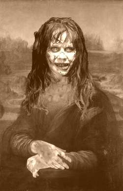 The Exorcist sepia Mona Lisa