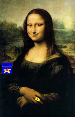 The Happiest Mona Lisa Ever