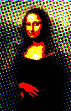 The illuminated mona Lisa