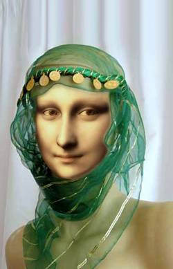 Woman with green Headscarf