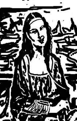 Xilographed Lisa:Expressionism